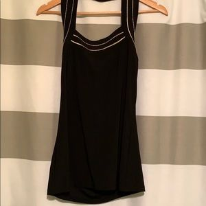Black and gold halter top NWT